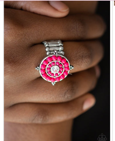 High-Tide Pool Party Pink Paparazzi Ring - JewelTonez Jewelry