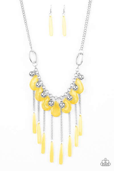 Roaring Riviera Yellow Paparazzi Necklaces - JewelTonez Jewelry