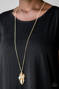 Fiercely Fall Gold Paparazzi Necklace - JewelTonez Jewelry