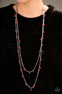 A Good GLAM Is Hard To Find Red Paparazzi Necklace - JewelTonez Jewelry