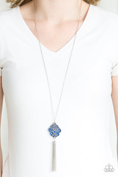 Malibu Mandala Blue Paparazzi Necklaces - JewelTonez Jewelry