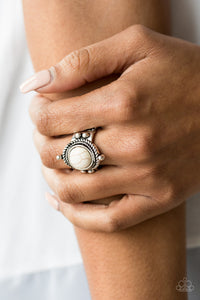 Prone To Wander White Paparazzi Ring - JewelTonez Jewelry