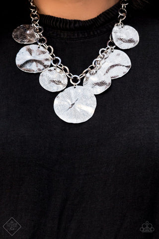 Barely Scratched The Surface Silver Paparazzi Necklace