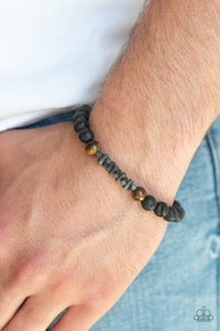 Courage Men's Brown Paparazzi Bracelet - JewelTonez Jewelry