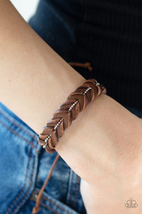 Rugged Rancher Brown Paparazzi Bracelets - JewelTonez Jewelry