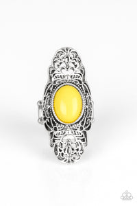 Flair For the Dramatic Yellow Ring - Paparazzi Accessories