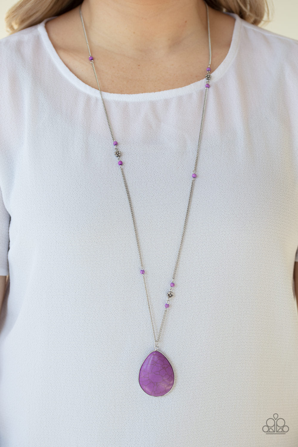 Desert Meadow Purple Paparazzi Necklace - JewelTonez Jewelry