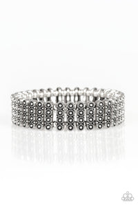 Rise With The Sun Silver Bracelet - Paparazzi Accessories - JewelTonez Jewelry