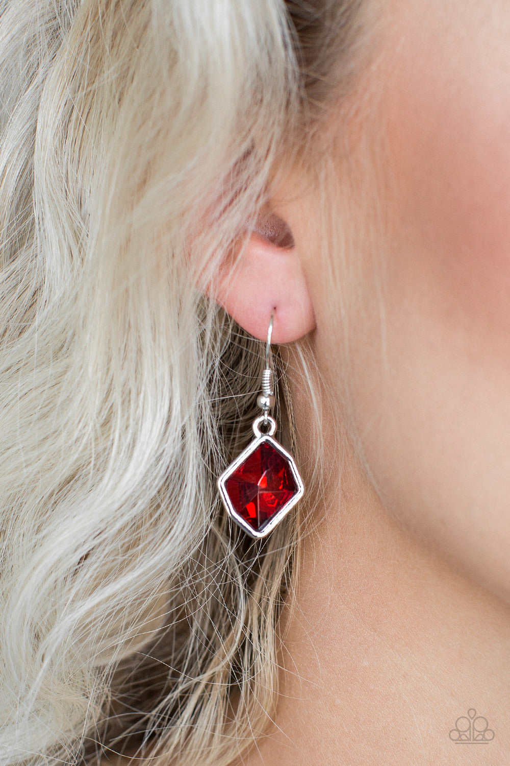 Glow It Up Red Paparazzi Earrings - JewelTonez Jewelry