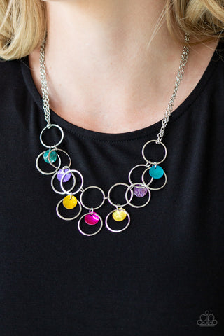Ask and You She'll Receive Multi Paparazzi Necklace - JewelTonez Jewelry