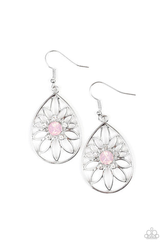 Take It Glow Pink Earrings - Paparazzi