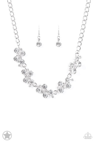 Hollywood Hills Silver Rhinestone Blockbuster Necklace -  Paparazzi Accessories Necklace set - Paparazzi Accessories