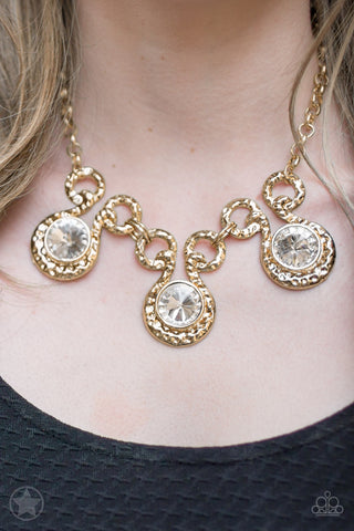 Hypnotized Gold Paparazzi Necklace - JewelTonez Jewelry