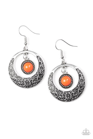 Wandering Waikiki Orange Earrings - Paparazzi Accessories