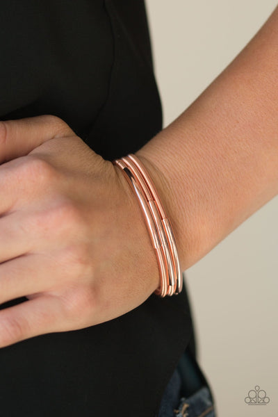 It's A Stretch Copper Paparazzi Bracelet - JewelTonez Jewelry