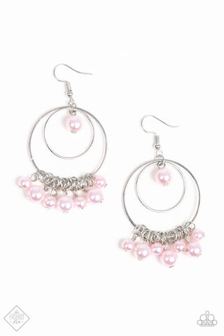JewelTonez New York Attraction Pink Earrings - Paparazzi