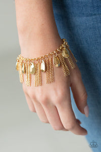 Brag Swag Gold Paparazzi Bracelet - JewelTonez Jewelry
