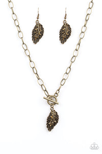 Pilot Quest Brass Necklace - Paparazzi