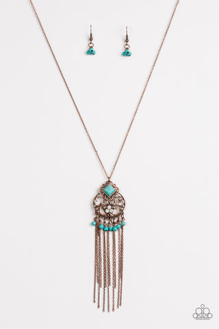 Whimsically Western Copper Necklace - Paparazzi Accessories