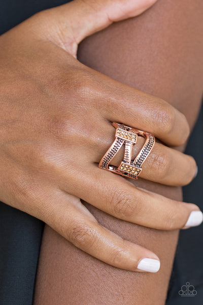 Urban Upscale Copper Paparazzi Ring - JewelTonez Jewelry