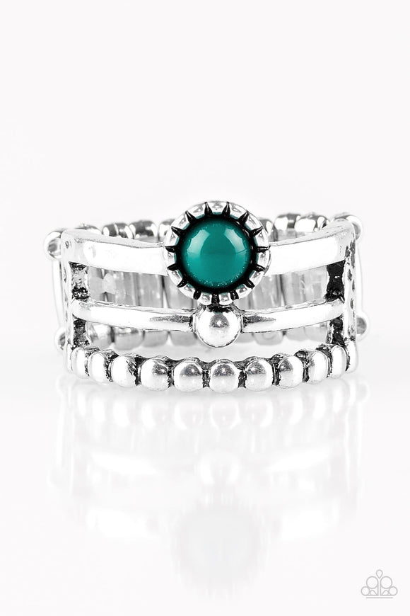Summer Retreat Green Ring - Paparazzi Accessories Ring - Paparazzi Accessories