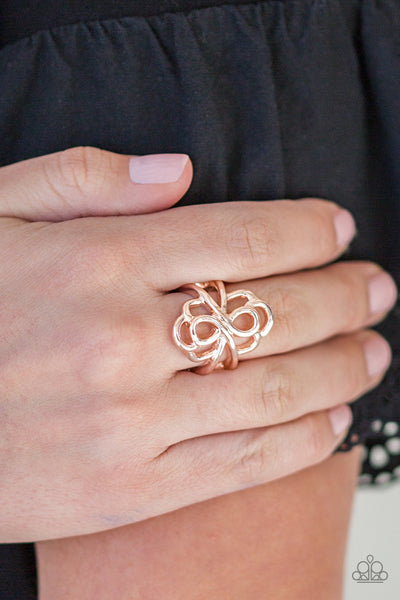 Ever Entwined Gold Paparazzi Ring - JewelTonez Jewelry