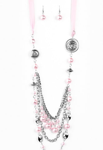 All The Trimmings Pink Blockbuster Necklace - Paparazzi