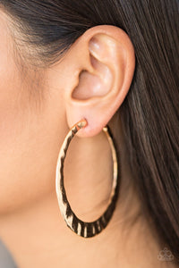 Slayers Gonna Slay Gold Paparazzi Earrings - JewelTonez Jewelry