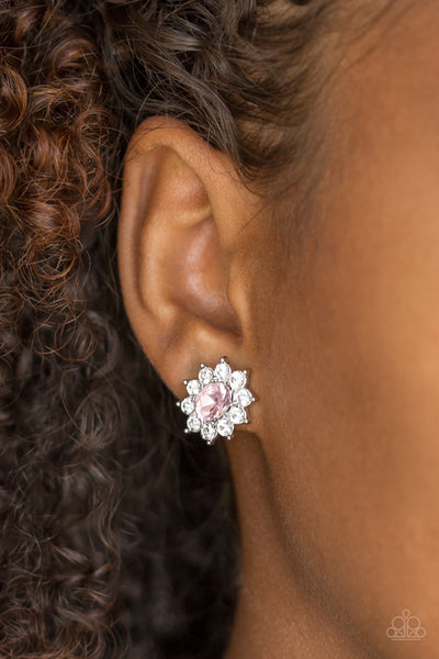 Starry Nights Pink Paparazzi Earrings - JewelTonez Jewelry