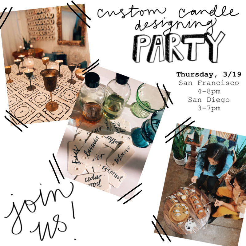 March's Candle Designing Parties (CANCELLED)