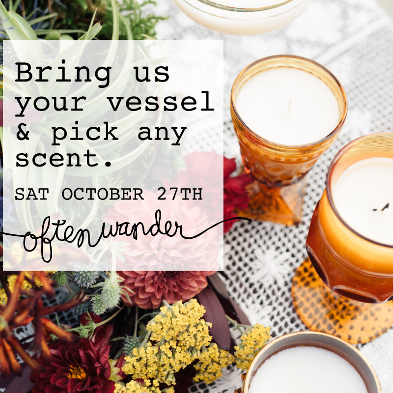 Candle Design Event >>> Saturday Oct 27