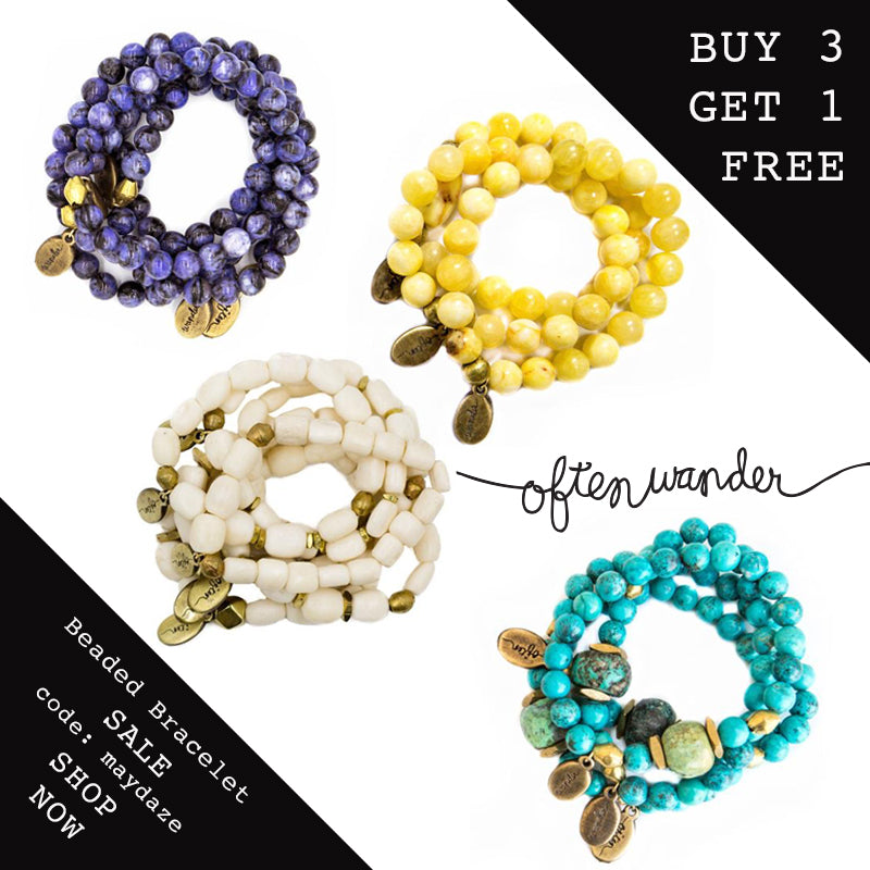Beaded Bracelet Sale >>>  Month of May