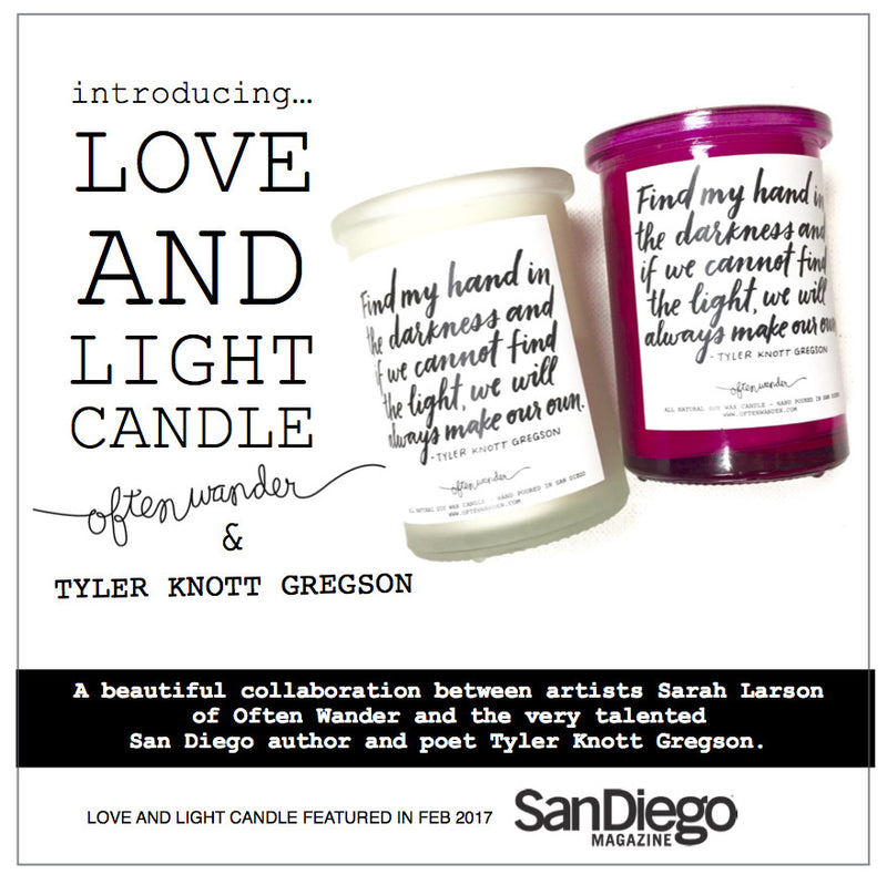 New Love and Light Candle