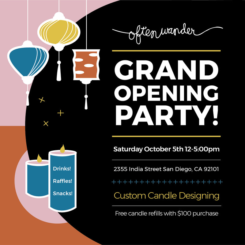 GRAND OPENING OF NEW SD SHOP!