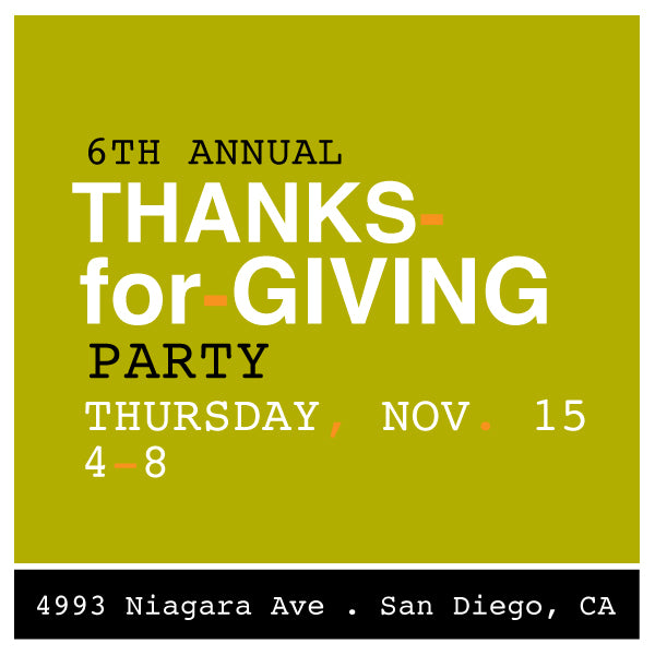 Thanks-for-Giving Party >>> Thursday Nov 15