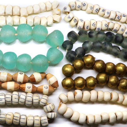 New! African Bead Strands