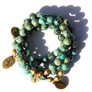 African Turquoise — Beaded Bracelet