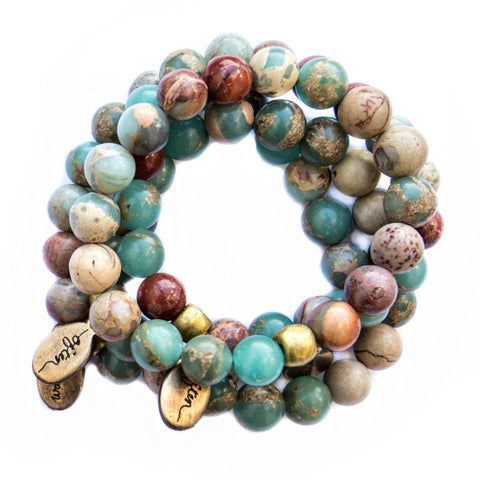*NEW* Beaded Bracelet  - Blue African Turquoise