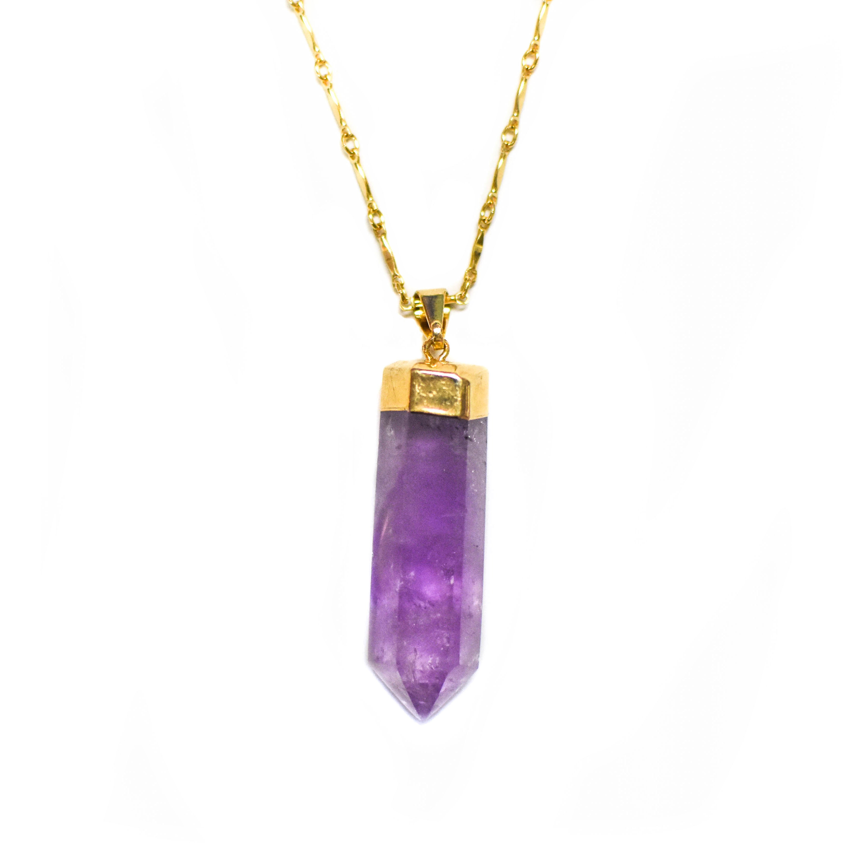 *NEW* Amethyst Pendulum Necklace