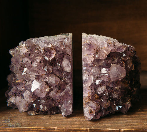 Amethyst Bookends — Crystal