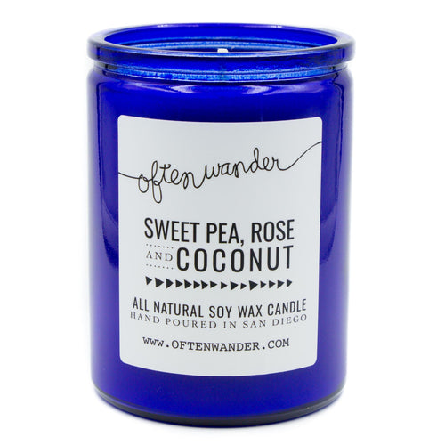 Sweet Pea, Rose and Coconut — Signature Candle