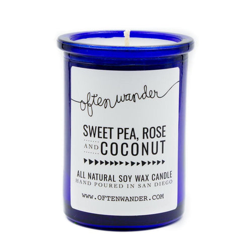 Apothec Candle - Sweet Pea, Rose and Coconut