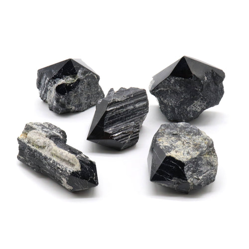 Black Tourmaline — Raw Points — Crystal