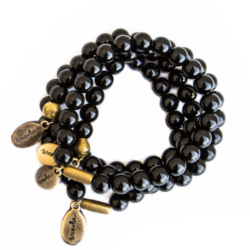 *NEW* Beaded Bracelet  - Black Onyx