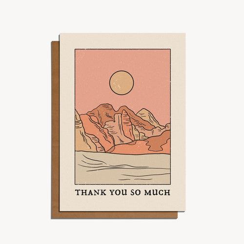 Thank You So Much — Note Card — cai & jo