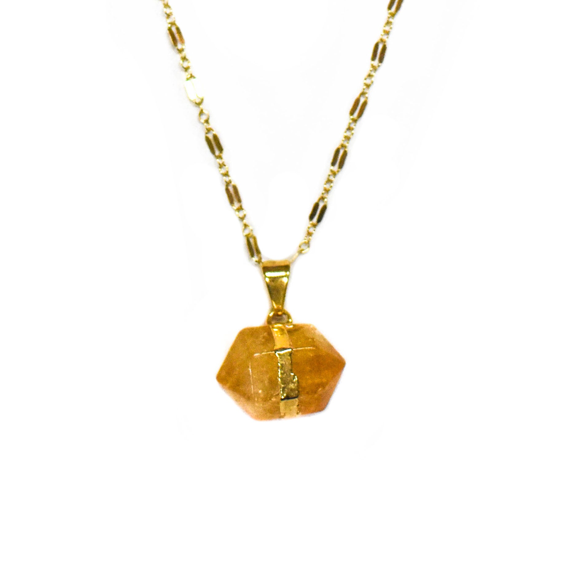 Necklace — Love Nugget — Citrine