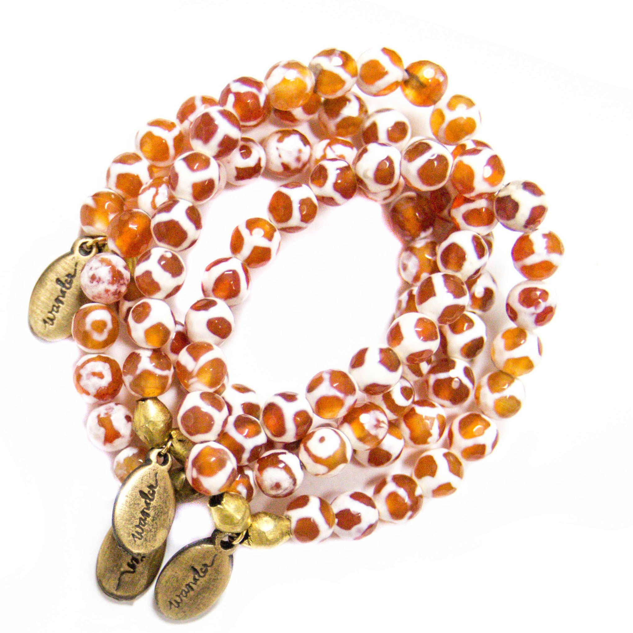 Beaded Bracelet  - Fire Agate