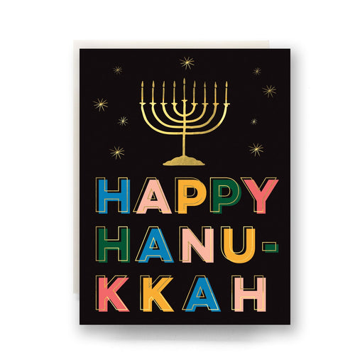 Happy Hanukkah — Pack of 6 — Note Cards — Antiquaria
