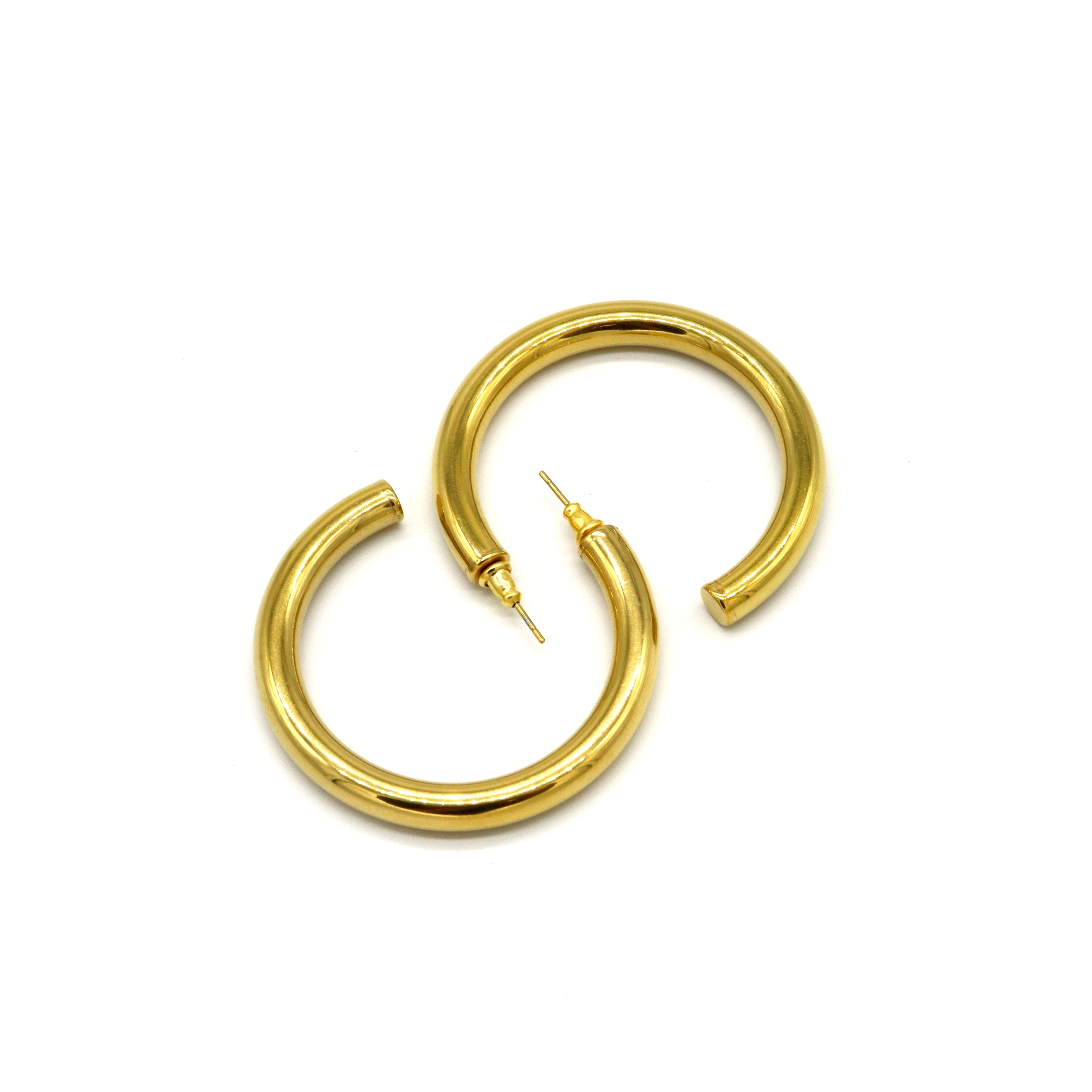 NEW! Gold Hoop — Earrings