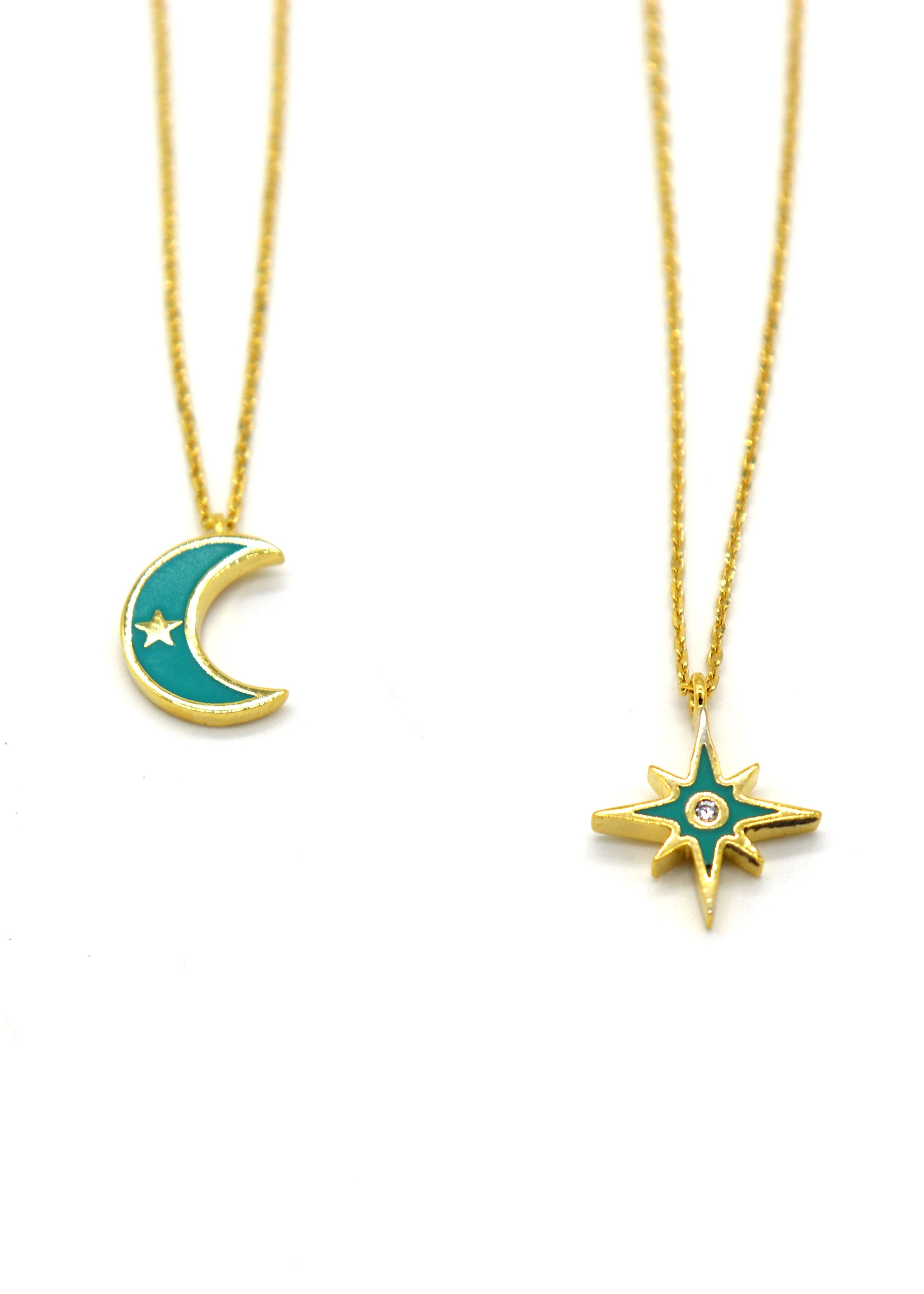 Necklace — Turquoise Crescent Moon